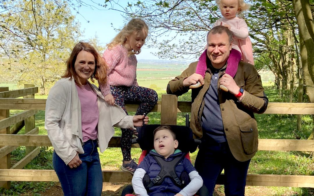 Hayley Charlesworth, founder of Harry's Pals, with her family